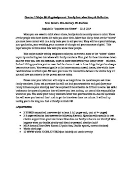 Family Interview & Essential Questions Essay