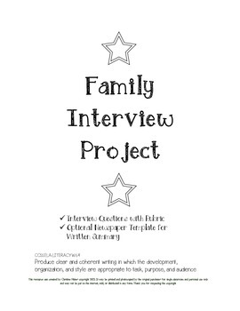 Family Interview Project