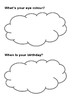 Family Interview Worksheet for kindergartener / pre-schooler. Editable