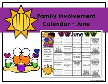 Family Involvement Calendar - June