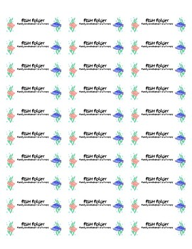 Family Involvement Starts Here FISH FOLDER Labels