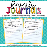 Family Journal Prompts- Connecting Schools and Families!