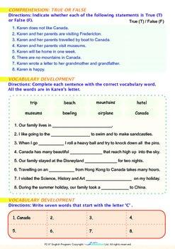 Family - Karen Visits Canada - Grade 2
