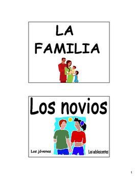 Family (La Familia) Bulletin Board and Flash Cards in Spanish