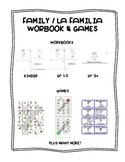 Family / La familia SPANISH Workbooks & Games Package