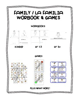 Family / La familia SPANISH Workbooks & Games Package