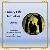 Family Life Activities-Grade 5