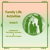 Family Life Activities-Grade 6