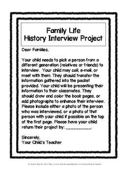 Family Life: History Interview Project