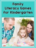 Family Literacy Games {Take-Home Reading Activities for Kindergarten}
