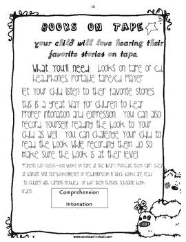 Family Literacy Handbook and Homework Ideas Ready to Send home TOMORROW!
