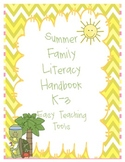 Family Literacy Handbook and Homework Ideas Ready to Send