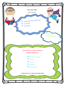Family Literacy Night Flyer