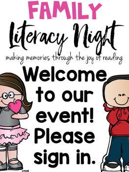 Family Literacy Night K-3 School Wide Event