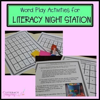 Family Literacy Night Resources:  Printables for Literacy Stations