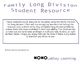 Family Long Division Resource
