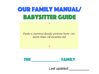 Family Manual/ Babysitter Guide