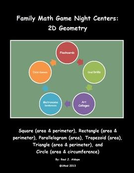 Family Math Game Night: 2D Geometry