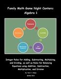 Family Math Game Night: Algebra 1