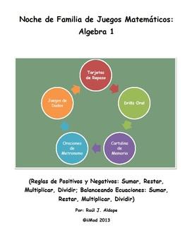 Noche de Familia de Juegos Matematicos (Algebra 1)