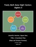 Family Math Game Night: Algebra 2