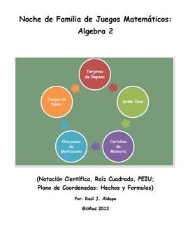 Noche de Familia de Juegos Matematicos (Algebra 2)