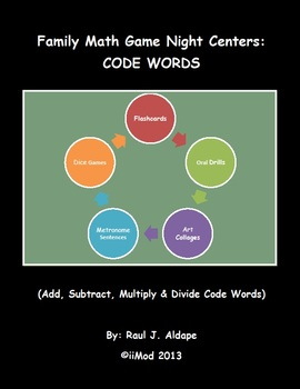Family Math Game Night: Code Words