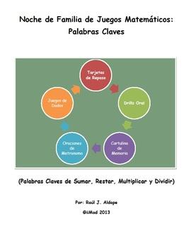 Noche de Familia de Juegos Matematicos (Palabras Claves)