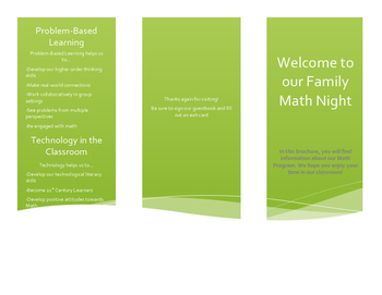 Family Math Night Brochure