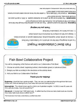 FAMILY MATH NIGHT: Fish Bowl Collaborative Project