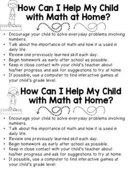 Tent Sale Canada >> Family Math Night K-3 School Wide Event | TpT