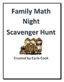 Family Math Night Scavenger Hunt