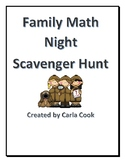 Family Math Night Scavenger Hunt