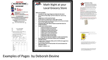 Family Math Night at Your Local Grocery Store