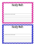 Family Math Template!