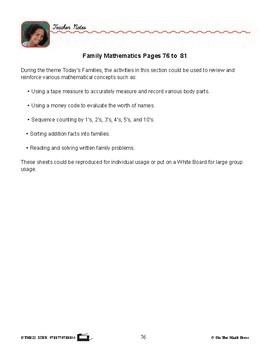 Family Mathematics Gr. 2-3 - Lesson Plan - Aligned to Common Core