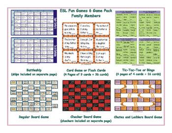 Family Members 6 Board Game Bundle