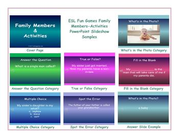 Family Members-Activities PowerPoint Slideshow CP