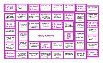 Family Members Board Game