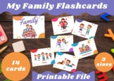 Family Members Flashcards (3 sizes included)