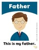 Family Members Flashcards / Set of 13 / Printable