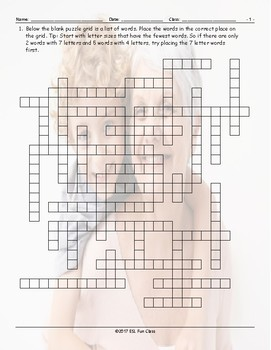Family Members Framework Puzzle Worksheet