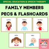 Family Members PECS And Flashcards For Special Education And Speech Therapy