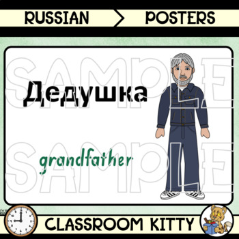 Family Members Posters : Russian / English