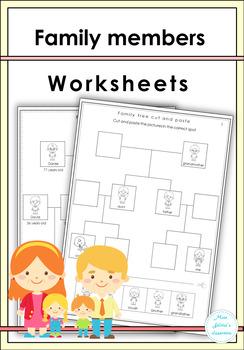 Family Members Worksheets