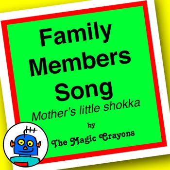 English Family Members Song 1 for ESL, EFL, Kindergarten. Mummy, Daddy, Sister