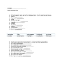 Family Members Vocabulary Quiz/Worksheet