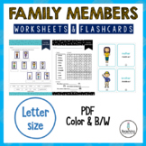 Family Members' Worksheets and Flashcards