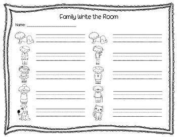 Family Members Write the Room