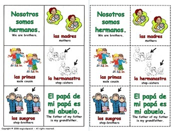 Family Members and Personal Pronouns - Lottery (Board Game).
